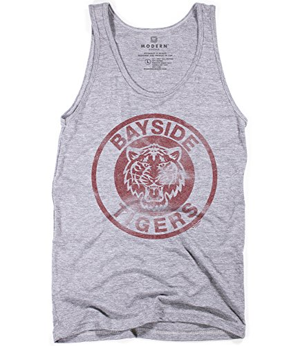 Superluxe Clothing Herren Bayside Tigers AC Slater Zack Morris Tri-Blend Tank Top, Herren, Grau - Athletic Grey, Large (Usa Team Halloween-kostüm)