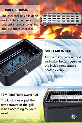 Zoom IMG-3 aobosi barbecue griglia a carbone