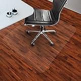 etm® Bodenschutzmatte 90x120cm Hartboden | extra transparent und rutschfest | optimales Gleitverhalten für Stuhlrollen | weitere Größen mit und ohne Lippe wählbar