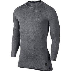 Nike Carbon Heather/Black/(Black) Cool Comp Ls (703089-091-)(S)