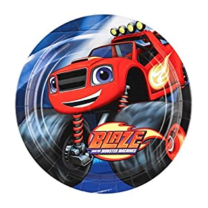 Blaze and the Monster Machines - Platos, pack de 8 unidades (Amscan 9991352)