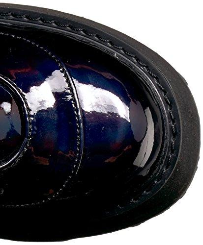 Demonia DAMNED-318 Blk Hologram Vegan Leather
