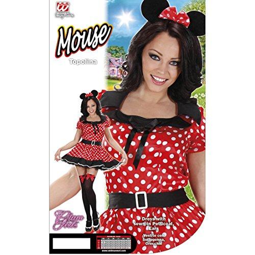 Imagen de disfraz para mujer de minnie mouse de disney con vestido de lunares alternativa