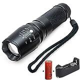 SRANDER LED Taschenlampe Ultra Bright LED Taktische Taschenlampe 2000S CREE XM-L T6 +Akku +Ladegerät Set