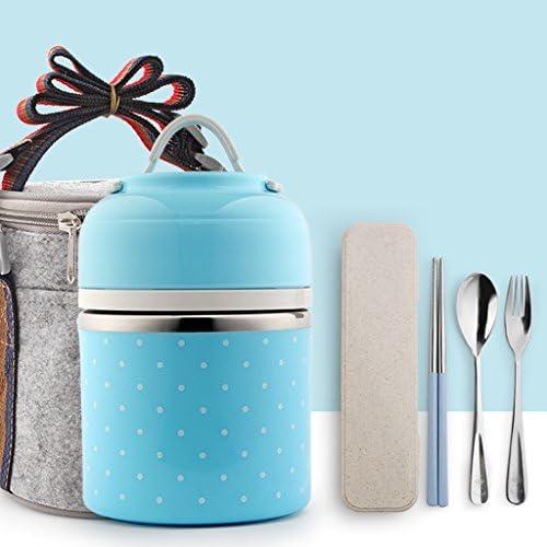 NNIU Durable et réutilisables réutilisables réutilisables Bento, Acier inoxydable Lunch Box avec sac pour les étudiants et les adultes ( Couleur : Blue 1 )   Supérieurs Performances  7d4dad