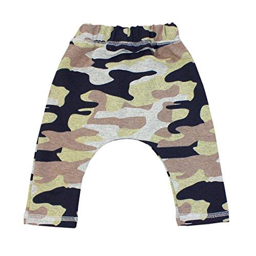 Babyhose Jungen Baggy Hose Basic Joggers Baumwolle Baby Jogginghose Jogpants, Farbe: Camouflage Dunkelblau, Größe: 74