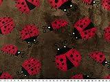 ab 1m: Superflausch, Käfer, dunkelbraun-rot, 150cm breit