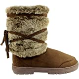 Womens Faux Fur Lined Thick Sole Winter Snow Boots