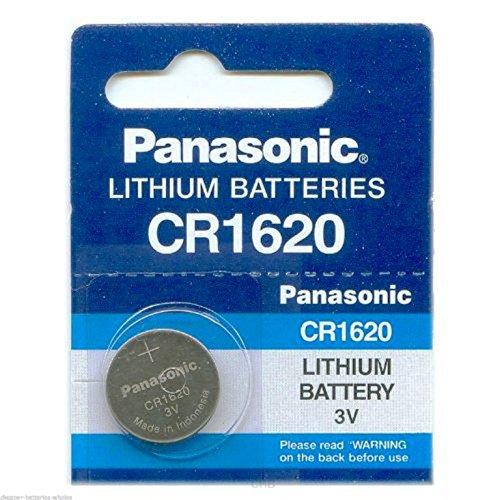 Panasonic CR1620 Lot de 2 piles boutons lithium 3 v