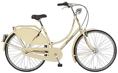 Prophete Damen Cityfahrrad Nostalgie 28 Zoll Noblesse, beige, 50, 52346-2111