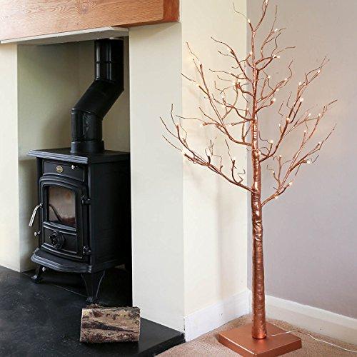 Die Kupfer-baum (strombetriebener, beleuchteter Kupfer Zweig Baum, 1,20m, mit LEDs in warmweiß, von Festive Lights)