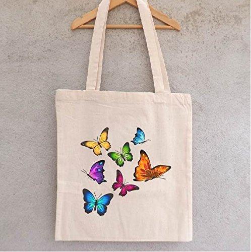 tote-bag-envolee-de-papillons-sac-shopping-sac-coton-sac-bandouliere-sac-de-filles-hiboux-chouettes
