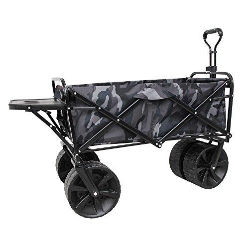 NEG Handwagen Bollermann (grau Camouflage) Bollerwagen (faltbar) für Strand/Offroad, extra große Räder (bis 100kg belastbar)