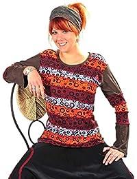 Patchwork Oberteil Sweatshirt Shirt Pullover Freizeitshirt Hippie Goa Psy Sweater Zip Batik Kringel