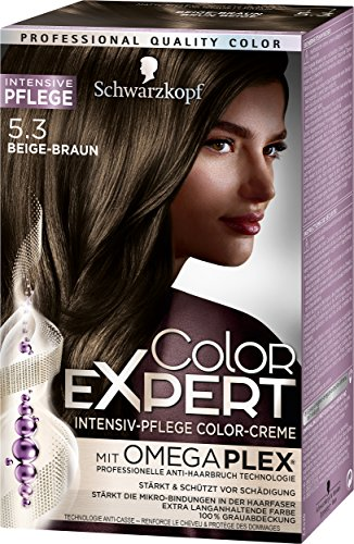 Schwarzkopf Color Expert Intensiv-Pflege Color-Creme 5.3 Beige-Braun, 3er Pack (3 x 167 ml)