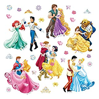 Princess AG Design - Wall Sticker Disney – Self Adhesive - Disney wall decal – 30x30 cm/12x12 inches, 1 part – DKs 1081