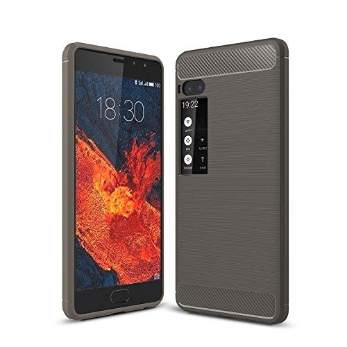 MeiZu Pro 7 Hülle - Ultra Slim Silikon Rückseite Schutzhülle Case für MeiZu Pro 7 Gris