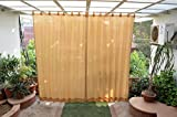 #10: HIPPO Outdoor Curtains - Beige Colour - Full Size (2 Nos. x 4.0 Ft W x 7.5 Ft L)