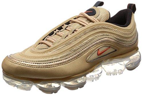Nike Schuhe Frau Turnschuhe Air Max Vapormax 97 in Gold Stoff AO4542-902 - Vintage Frauen Nike Schuhe