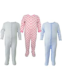 Teddy's Choice 100% Cotton Multi color 3 Combo Kid's Romper for 3-6 Months :Modle-016