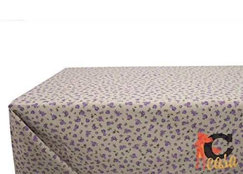 Nappe en coton fantaisie Gaia 140x240 lilas