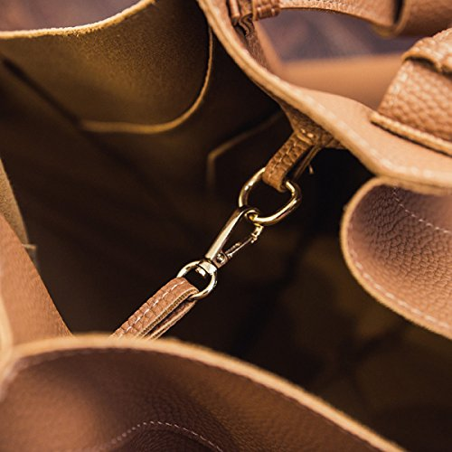 Borsa Handle Handle In Pelle In PU Soft Totes Brown