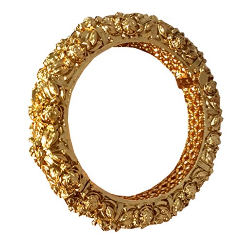 22K GOLD PLATED BRASS FREE SIZE DESIGNER FASHIONABLE LIGHT WEIGHT TRADITIONAL ANTIQUE ROYAL LOOK BANGLE
