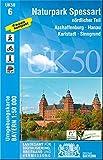 UK50-6 Naturpark Spessart nördlicher Teil: Aschaffenburg, Hanau, Karlstadt, Sinngrund, Seligenstadt, Gemünden a.Main, Lohr a.Main, Erlenbach a.Main, ... Karte Freizeitkarte Wanderkarte)