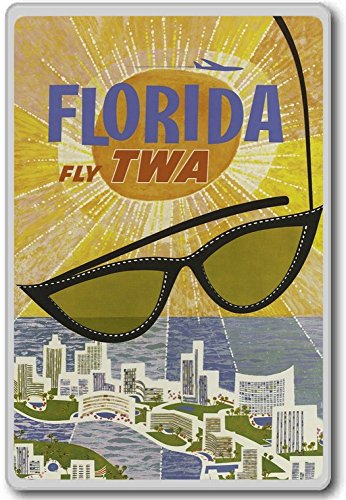 florida-fly-twa-usa-vintage-travel-fridge-magnet-aimant-de-rfrigrateur
