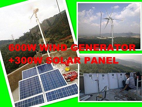 Gowe Off Grid Forest Steuerung System entwickeln Sie mit 600W Windkraftanlagen Generator + 300W Solar Panel + Controller (600 Watt-solar-generator)