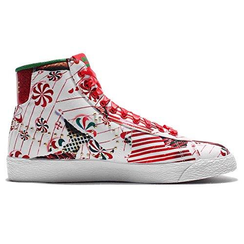 Nike Wmns Blazer Mid Qs, Chaussures de Sport Femme, Rouge Rouge - Rojo (Unvrsty Rd / Mtllc Gld-Pn Grn-Wh)