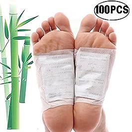Patch per il Piedi, Kapmore 100Pcs Detox dei Piedi Patch per i Piedi Rilievo Di Soccorso Per La Cura Del Dolore Detox Foot Pads Per Uomini e Donne