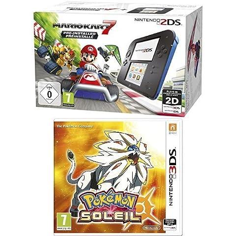 Pack console Nintendo 2DS + Mario Kart 7 + Pokémon Soleil