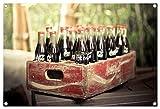 alte Coca Cola Flaschen Format: 60x40 cm Bild auf PVC-Plane/Banner, Hochwertiger XXL Kunstdruck als Wandbild inkl. Ösen!!