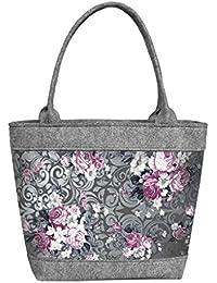 Shopper Filztasche Damentasche Handtasche Schultertasche CITY Krokus Bertoni t46Ff