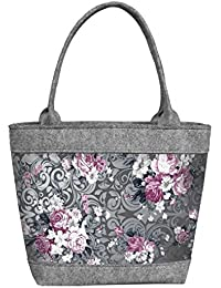 Shopper Filztasche Damentasche Handtasche Schultertasche CITY Krokus Bertoni