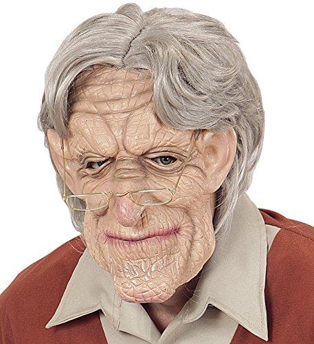 Panelize Opamaske mit Opaperücke Greis Alter Mann Großvater Maske Alter Mann