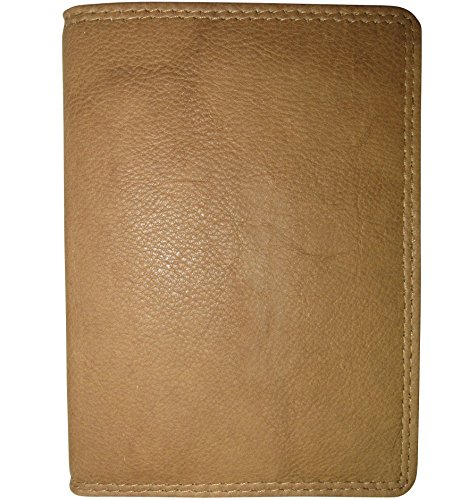 Josephine Osthoff Handtaschen-Manufaktur Leder EC-Karten-+ Ausweisetui - Safari - mit RFID-Schutz Doppelnaht AUCH Behindertenausweis flach braun