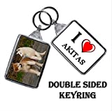 I HEART AKITAS KEYRING - I LOVE AKITAS KEYRING for sale  Delivered anywhere in Ireland