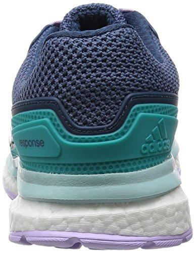 adidas adidasResponse Boost 2 - Scarpe Running Donna Verde (Shock Green S16/Ftwr White/Purple Glow S16)