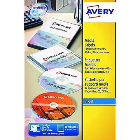 Avery L7666-25 Etichette per Supporti Multimediali