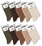 Mat & Vic's Calze, ottima qualità e comodità, OEKO-TEX 100-35 36 37 38 39 40 41 42 43 44 45 46 (10 paia, Nero, UK 6-8.5 / EU 39-42)