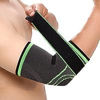 meinebe auty Codera Bandage–Codera para hombre mujer ajustable–Vendaje para baketball Tenis Golfista Peso Lifting Workout Compresión (1pieza), color verde, gris, tamaño extra-large