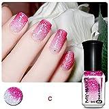 hunpta Thermal Nail Varnish Color Changing Peel Off Varnish Beauty Sexy Cosmetic (C)