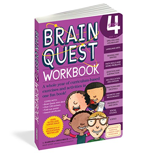 Brain Quest Grade 4: Ages 9 - 10 Workbook