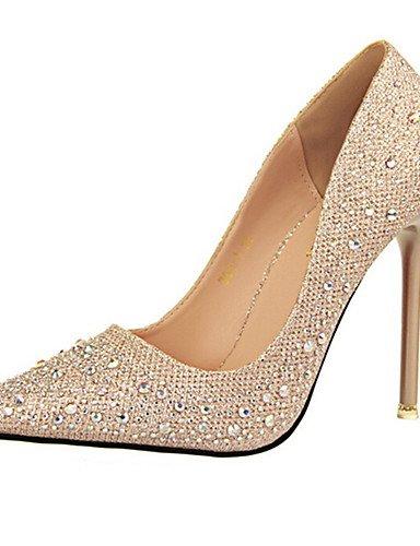 WSS 2016 Chaussures Femme-Décontracté-Noir / Bleu / Rose / Argent / Gris / Nu-Talon Aiguille-Talons-Talons-PU gray-us5.5 / eu36 / uk3.5 / cn35