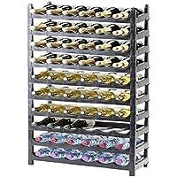 Étagère à bouteille/support bouteille modulable plastique 60 bouteilles cave à vin
