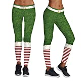 Weihnachtsstriped Druck Yoga Leggings Malloom, Frauen Casual Weihnachten Print eng anliegende Stretch Yoga Hosen Sporthose