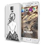 NALIA Handyhülle für Samsung Galaxy S5 S5 Neo, Designs:Bird Princess