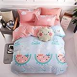 XYIANG Heimtextilien Einfacher Bettbezug Pillowcase Bettwäsche-Set Von Vier, Eine Vielzahl Von Farbstilen Zur Auswahl,4d,2.2mbed
